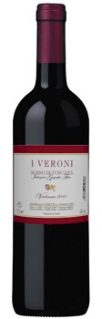 The I Veroni Rosso Di Toscana consists of 50 percent Sangiovese, 25 percent Merlot and 25 percent Petit Verdot