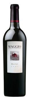 Maggio Family Vineyards Merlot offers blackberry, vanilla and mocha flavors