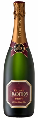 Villiera Tradition Brut is composed of 55 percent Chardonnay, 33 percent Pinot Noir and 12 percent Pinotage