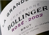 The wine label of Bollinger 2002 La Grande Année Rosé