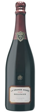 A bottle of Bollinger 2002 La Grande Année Rosé, our Wine of the Week review