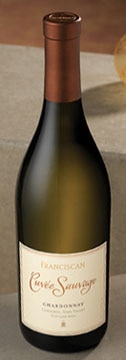 A bottle of Franciscan Estates 2007 Chardonnay Cuvee Sauvage, our Wine of the Week review