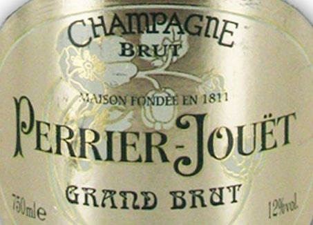 Wine label of Perrier-Jouet Grand Brut, our Wine of the Week review