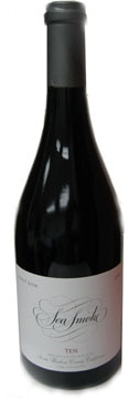 A bottle of Sea Smoke 2008 TEN Pinot Noir, our Wine of the Week review