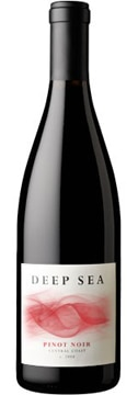 A bottle of Deep Sea 2008 Pinot Noir, our wine of the week