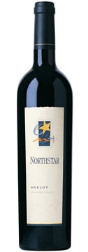 A bottle of Northstar Winery 2007 Columbia Valley Merlot, our wine of the week