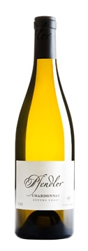 A bottle of Pfendler Vineyards 2009 Chardonnay, our wine of the week