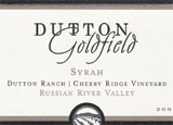 Wine label of Dutton Goldfield 2008 Cherry Ridge Vineyard Syrah, our Wine of the Week review