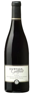 A bottle of Dutton-Goldfield 2008 Cherry Ridge Vineyard Syrah, our Wine of the Week review