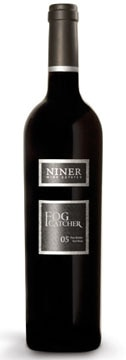 A bottle of Niner Wine Estates 2005 Fog Catcher, our Wine of the Week review