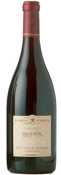 A bottle of Gloria Ferrer 2006 Rust Rock Terrace Pinot Noir, our Wine of the Week review