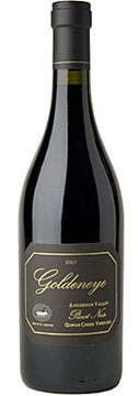A bottle of Goldeneye 2007 Gowan Creek Vineyard Pinot Noir, our Wine of the Week review