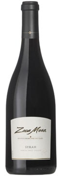A bottle of Zaca Mesa 2007 Mesa Reserve Syrah, our Wine of the Week review