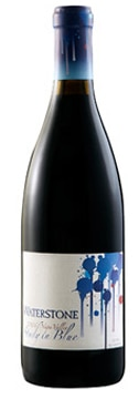 A bottle of Waterstone Winery 2007 Study in Blue, our wine of the week