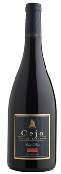 A bottle of Ceja Vineyards 2008 Pinot Noir, our wine of the week