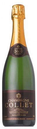 A bottle of Champagne Collet Brut Millesime, our wine of the week