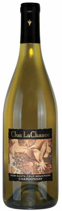 A bottle of Clos LaChance Winery 2008 Santa Cruz Mountains Chardonnay, our wine of the week