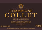 Wine label of Champagne Collet Brut Millesime 2002, our wine of the week