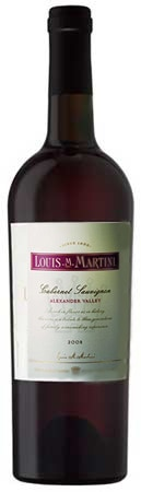 A bottle of Louis M. Martini 2008 Alexander Valley Cabernet Sauvignon, our wine of the week