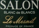 Wine label of Champagne Salon 1997 Blanc de Blancs Le Mesnil, our wine of the week