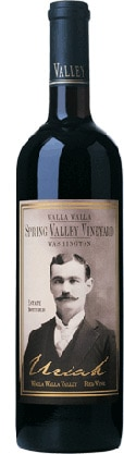 A bottle of Spring Valley Vineyard 2008 Uriah Red Wine, our wine of the week