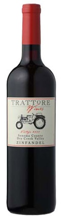 A bottle of Trattore Estate Wines 2009 Estate Zinfandel, our wine of the week