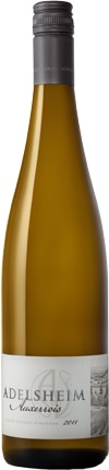 A bottle of Adelsheim Vineyard 2011 Auxerrois, our wine of the week