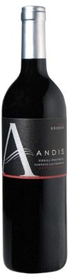 A bottle of Andis Wines 2009 Petite Sirah, our wine of the week