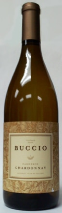 A bottle of Buccio Winery 2009 Chardonnay, our wine of the week