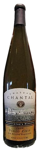 A bottle of Chateau Chantal 2010 Pinot Gris, our wine of the week