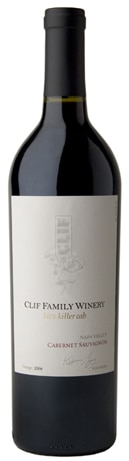 A bottle of Clif Family Winery 2008 Kit's Killer Cab Cabernet Sauvignon, our wine of the week