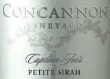 Wine Label of Concannon Vineyard 2008 Captain Joe's Petite Sirah