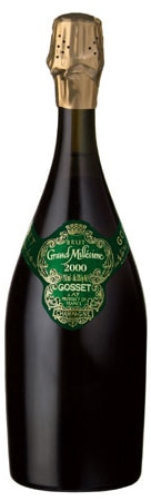 A bottle of Champagne Gosset 2000 Grand Millesime Brut, our wine of the week