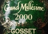 Wine label of Champagne Gosset 2000 Grand Millesime Brut, our wine of the week