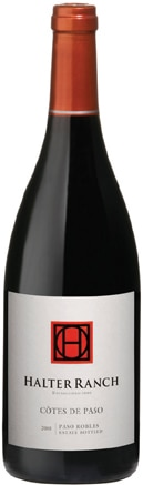 A bottle of Halter Ranch Vineyard 2008 Cotes de Paso, our wine of the week
