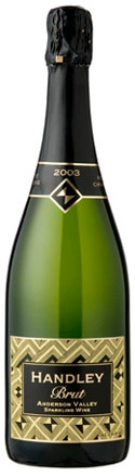 A bottle of Handley Cellars 2003 Brut, our wine of the week