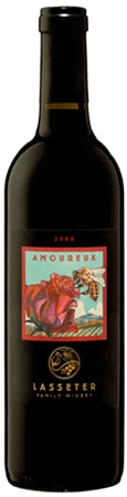 A bottle of Lasseter Family Winery 2008 Amoureux, our wine of the week
