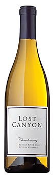 A bottle of Lost Canyon Winery 2010 Ruxton Vineyard Chardonnay, our wine of the week