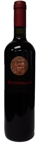 A bottle of Methymnaeos Winery 2010 Dry Red Wine, our wine of the week