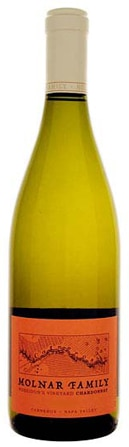 A bottle of Molnar Family 2008 Chardonnay, Poseidon's Vineyard, our wine of the week