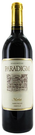 A bottle of Paradigm Winery 2008 Merlot, our wine of the week