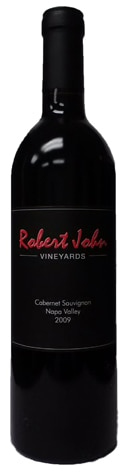 A bottle of Robert John Vineyards 2009 Cabernet Sauvignon, our wine of the week
