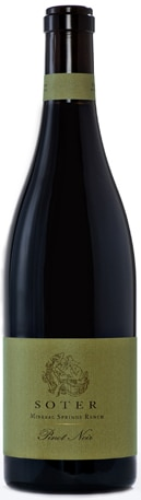 A bottle of Soter Vineyards 2009 Mineral Springs Ranch Pinot Noir, our wine of the week
