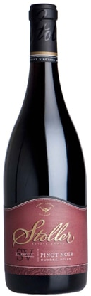 A bottle of Stoller Vineyards 2007 SV Estate Pinot Noir, our wine of the week