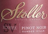 Wine label of Stoller Vineyards 2007 SV Estate Pinot Noir