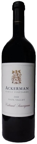 A bottle of Ackerman Family Vineyards 2008 Napa Valley Cabernet Sauvignon , our wine of the week
