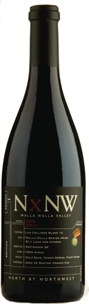 A bottle of NxNW 2009 Walla Walla Valley Syrah, our wine of the week