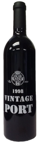A bottle of V. Sattui 1998 Vintage Port, our wine of the week