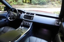 An interior view of the 2014 Range Rover Sport V8 Supercharged