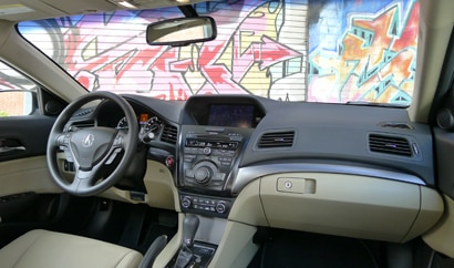 An interior view of a 2013 Acura ILX Hybrid